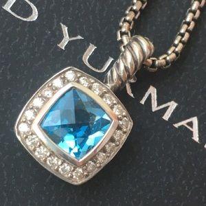 David Yurman Petite Albion Blue Topaz Pendant